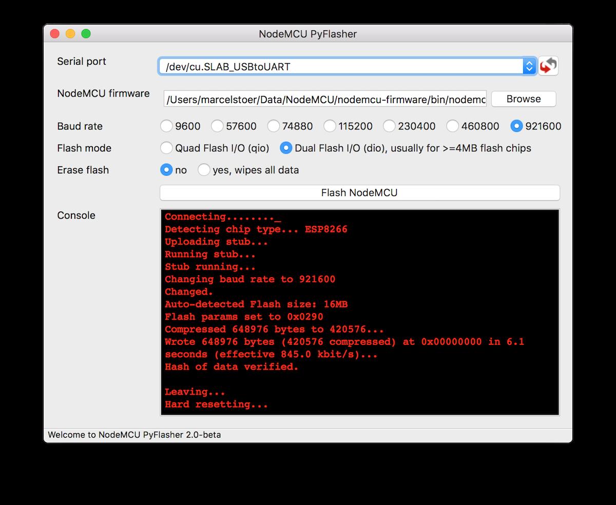 Flashing the firmware - NodeMCU Documentation